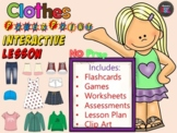 Clothes - Lesson - ESL Power Point Interactive Games, work