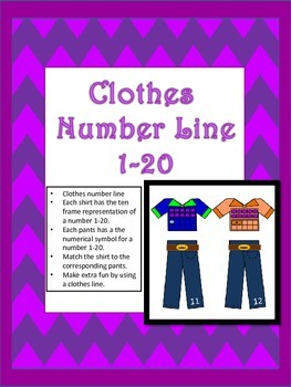 Clothes Number Line Match 1-20