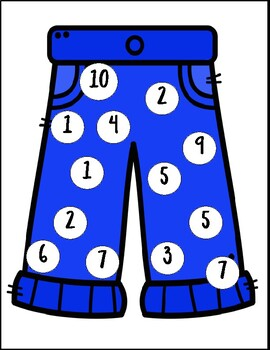 Clothes Number Recognition Game