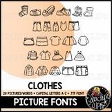 Clothes Picture Font {Educlips Clipart}