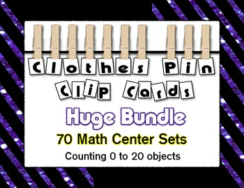 Clothes Pin Clip Cards Counting to 20 ~ Growing Bundle ~ Math Centers