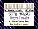 Clothes Pin Clip Cards Counting to 20 ~ Growing Bundle ~ M
