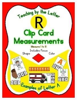 Clothes Pin Clip Cards - Measurement - By the Alphabet - Focus Letter R