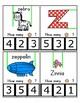 Clothes Pin Clip Cards - Measurement - By the Alphabet - Focus Letter Z