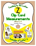 Clothes Pin Clip Cards - Measurement - By the Alphabet - F
