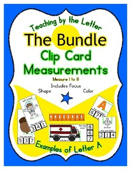 Clothes Pin Clip Cards Measurement Reading & Counting Bundle