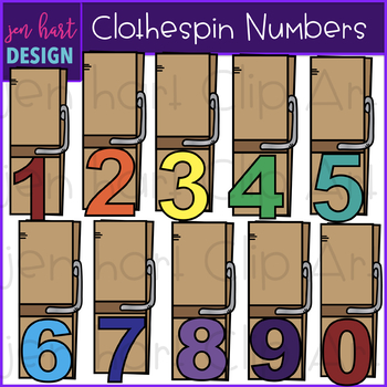 Alphabet Letters and Numbers Clip Art - Clothespins {jen hart Clip Art}