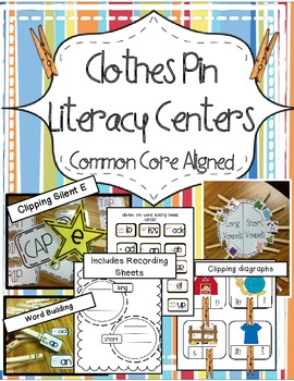 Clothes Pin Literacy Activities Common Core Aligned