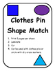 Clothes Pin Shape Match