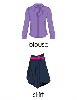 Clothes (Set I) Picture Flashcards
