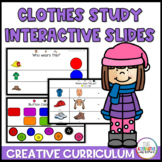 Clothes Study Creative Curriculum Distance Learning Intera
