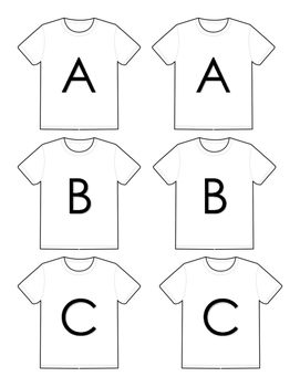 Clothes Study T-Shirt Letter Matching