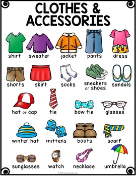 Clothes Vocabulary Activities For Beginning Ells By Raise