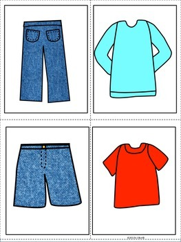 """ESL Resources: Vocabulary+Conversation """"Clothes"""" Building Cards- ELL Newcomers"""
