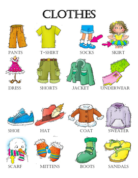 Clothes Vocabulary Grade 2