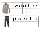 Clothes Vocabulary Letter Matching