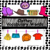 Clothes Vocabulary Words