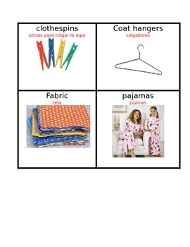 Clothes Wordwall Vocabulary