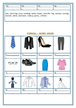 Clothes and Accessories: Winter / Summer / Formal