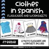 Clothes in Spanish Flashcards - La ropa y las compras