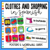 Clothes and Shopping in Spanish Posters and Word Wall - La ropa y compras