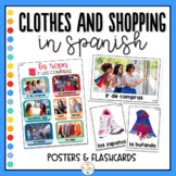 Clothes and Shopping in Spanish Photo Posters and Word Wall - La ropa y compras