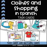 Clothes and Shopping in Spanish Task Cards - La ropa y compras