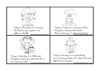 Clothes and Weather reading minibbok