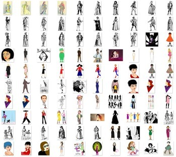 Clothes and fashion image collection Over 600 clip art png images dresses,