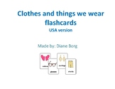 Clothes and things we wear flashcards (USA version)