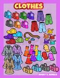 Clothes basic clip art set