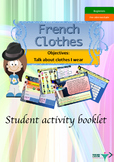 French clothes, vêtements booklet for beginners