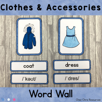 Word Wall - Clothes Clothing Items