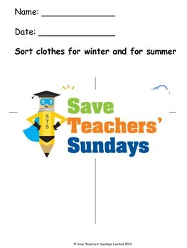 Clothes for different Weather and Seasons Lesson plan and Worksheets