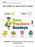Clothes for different Weather and Seasons Lesson plan and