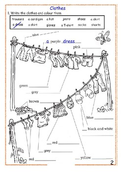 Clothes games worksheet