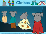 Clothes in English: Flashcards, Games and Booklets with Pepper