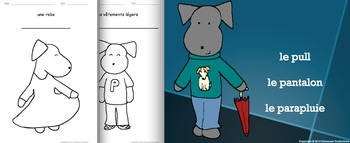 Clothes in French: Flashcards, Games and Booklets with Pepper