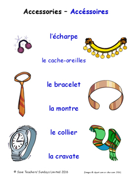 Clothes in French Matching Activities
