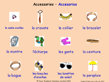 Clothes in French Posters / Slides