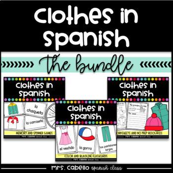 Clothes in Spanish Bundle - La Ropa