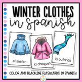 Winter Clothes in Spanish Flashcards - Ropa de Invierno