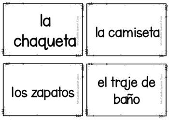 Clothes in Spanish Games - La Ropa