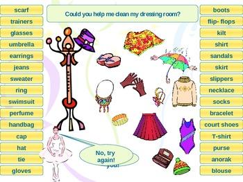 Clothes interactive activity