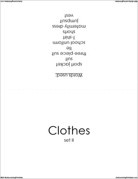 Clothes (set II) Picture Flashcards