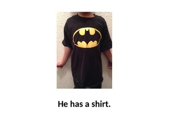 Clothes-teaches clothing words and sight words