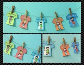 Clothesline Classroom Helpers - Class Jobs Display