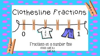 Clothesline Fractions: Fractions on a number line