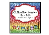 Clothesline Number Line 1-20 Common Core Aligned