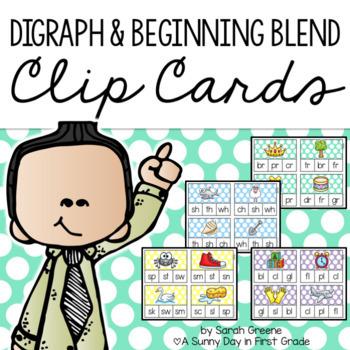 Clothespin Activities {digraphs & beginning blends}